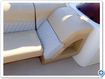 High quality bench seating with three chaise loungers