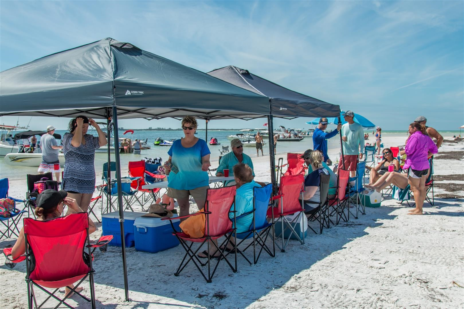 Pontoon Boat Rentals Island Beach Bbq Cookout On The