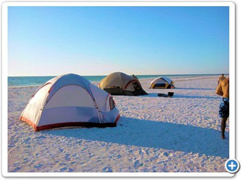 We offer overnight camping packages on the island.