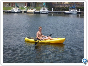 Kayaking on your own is fun!