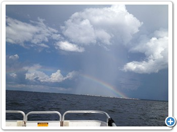 Yes, our marina at Gulf Harbors REALLY IS the pot of gold at the end of the rainbow!