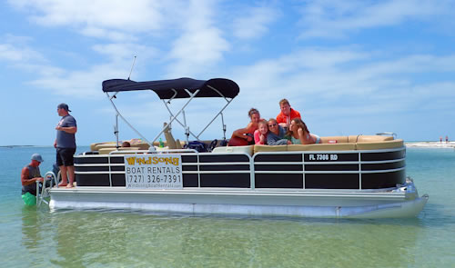 22 foot pontoon rental