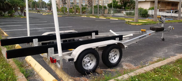 Dual Axle Pontoon Trailer Rental